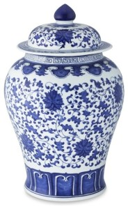Blue & White Temple Jar