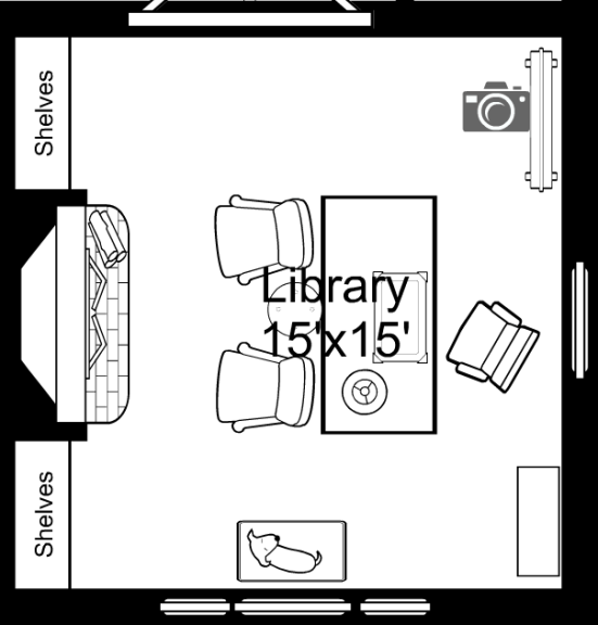 One Room Challenge Fall 2015, Week 2 - Sketchy Floor Plan | Kelly Rogers Interiors | Interiors for Families
