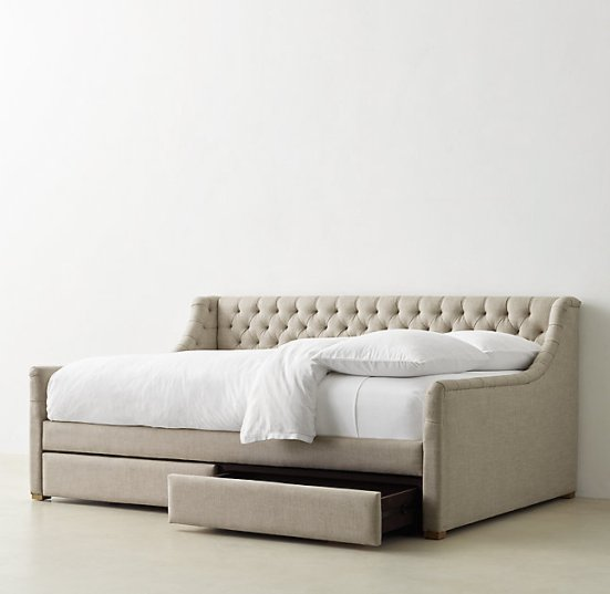 Friday Family-Friendly Find | RH Teen Devyn Tufted Storage Daybed | Interiors for Families
