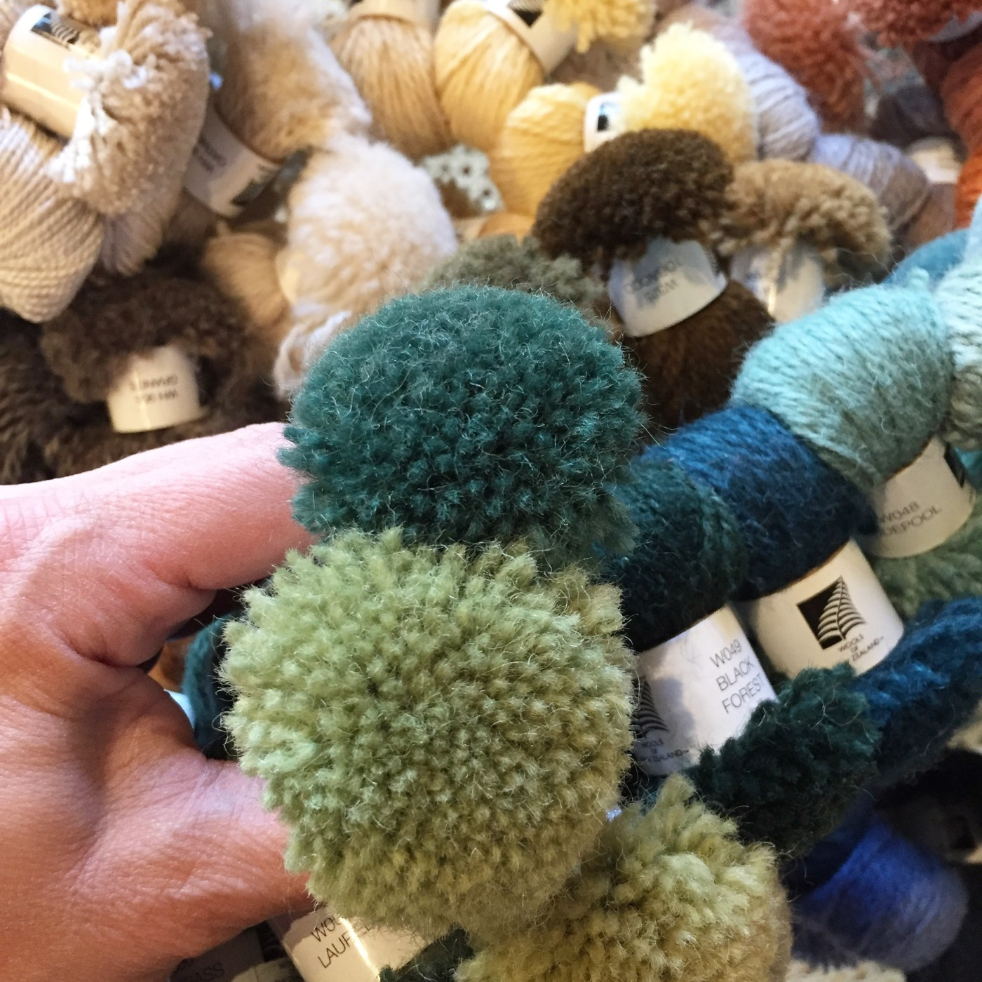Custom Area Rug Poms in Emerald and Greenery | Kelly Rogers Interiors | Interiors for Families