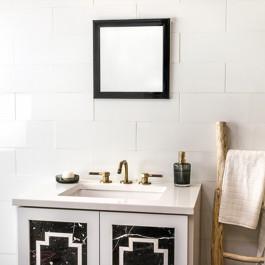 Friday Family-Friendly Find: Tilebar Crystallized Thassos Tile | Interiors for Families