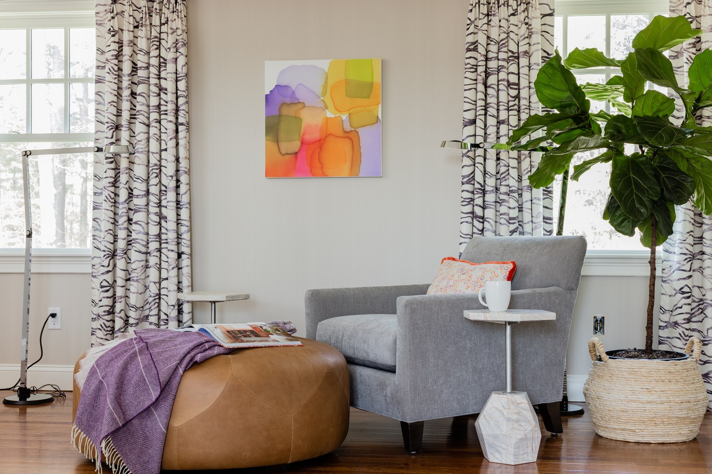 One Room Challenge Week 6: Bold Serene Bedroom REVEAL - Photoshop Chair Magic   Kelly Rogers Interiors
