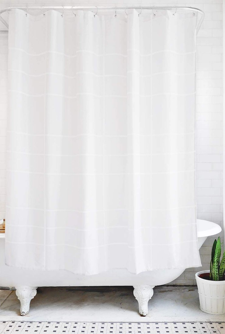 Friday Family-Friendly Find: Bathage Waterproof Fabric Shower Curtain | Interiors for Families | Blog of Kelly Rogers Interiors
