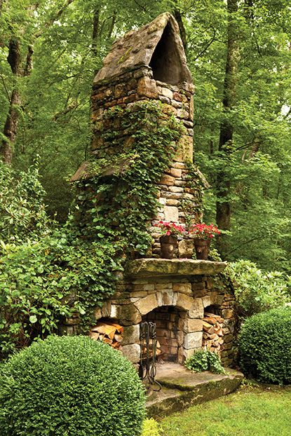 15 Amazing Rustic Stone Fireplace Design Ideas ... on Amazing Outdoor Fireplaces id=29849