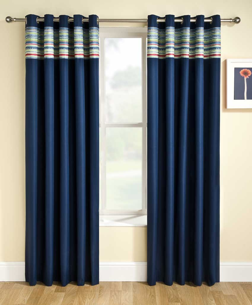 super colourful bedroom curtain designs