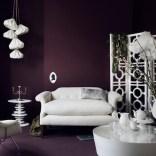 Deep plum living room