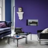 Purple modern living room