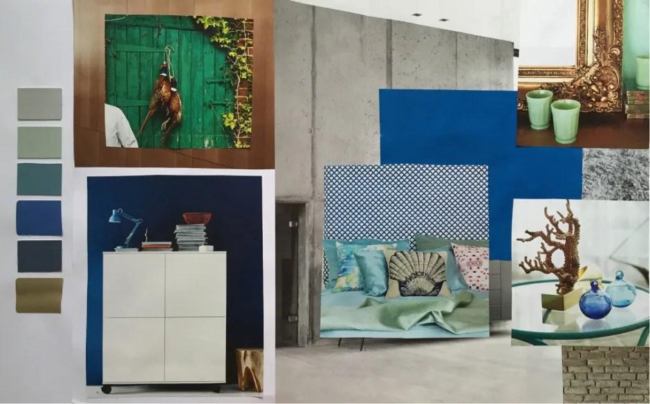 Moodboard and palette advanced colour workshop klc school of design