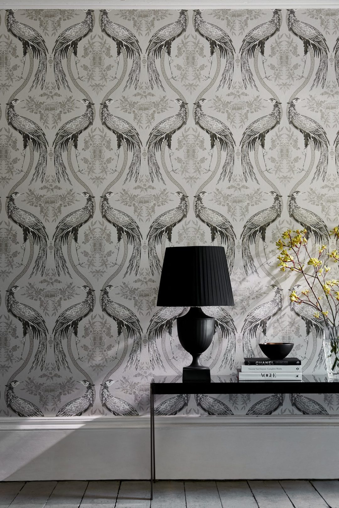 3 Wedgwood Home - Fabrics & Wallcoverings by Blendworth Fabled Crane Wallcovering 5