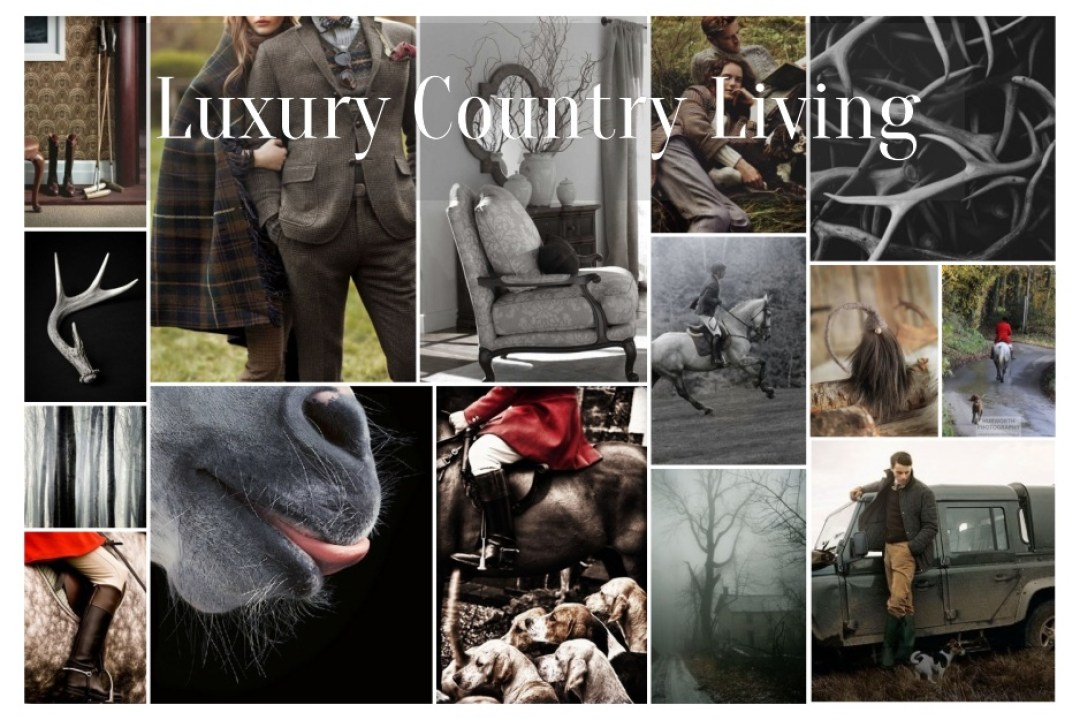 luxury country living moodboard
