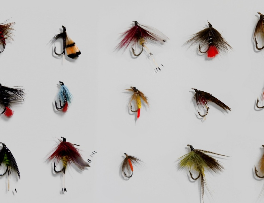 hannah brown trout flies framed close up