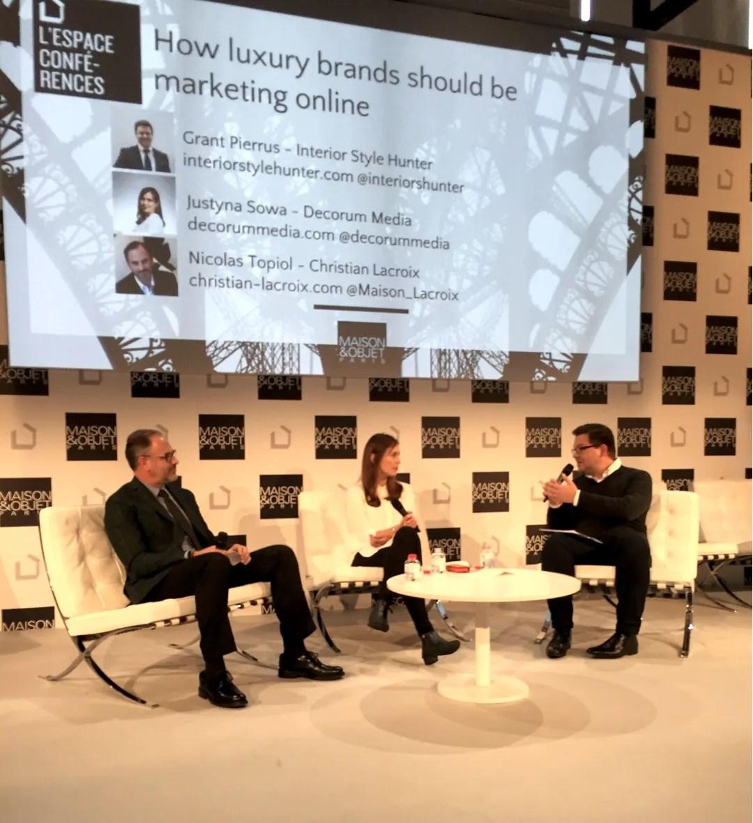 Watch my talk at maison objet paris on marketing luxury brands online