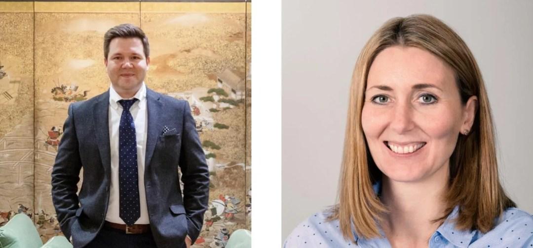 Grant Pierrus and Nicola Pearson