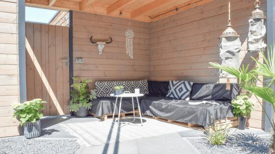 loungehoek in de tuin - InteriorTwin
