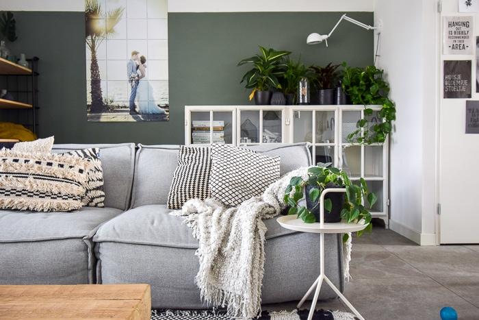 zithoek groene muur