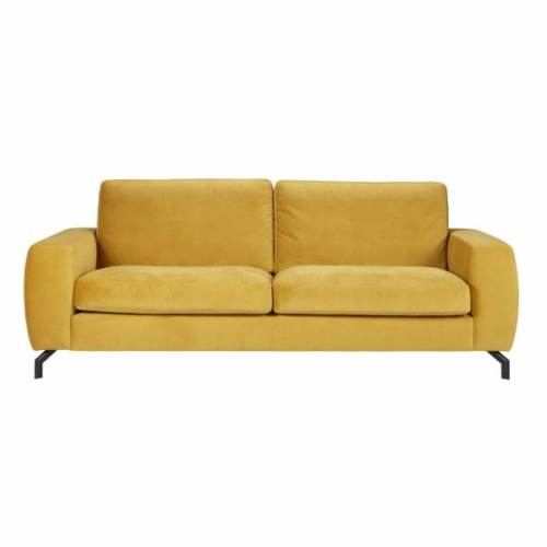 westeind velvet gele bank woonexpress
