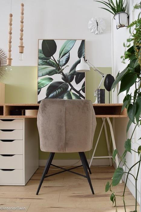 velvet taupe stoel urban jungle 2
