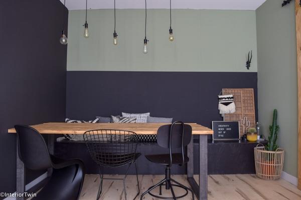 Diy zelf een industriële houten eettafel maken interiortwin