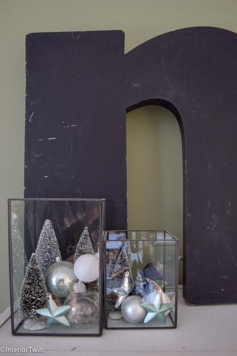 kerstdecoratie in stolp