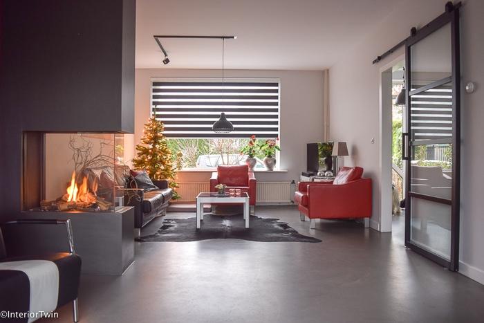gashaard modern stoer rood zwart interieur