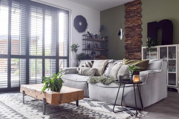 inspiratie en ideeen grijze bank woonkamer