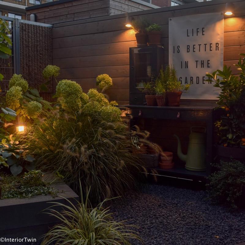 tuinverlichting buitenverlichting wandlamp schutting