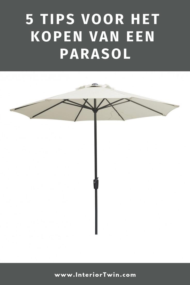 5 tips voor het kopen van een parasol