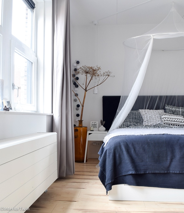 ikea klamboe boven bed tegen muggen