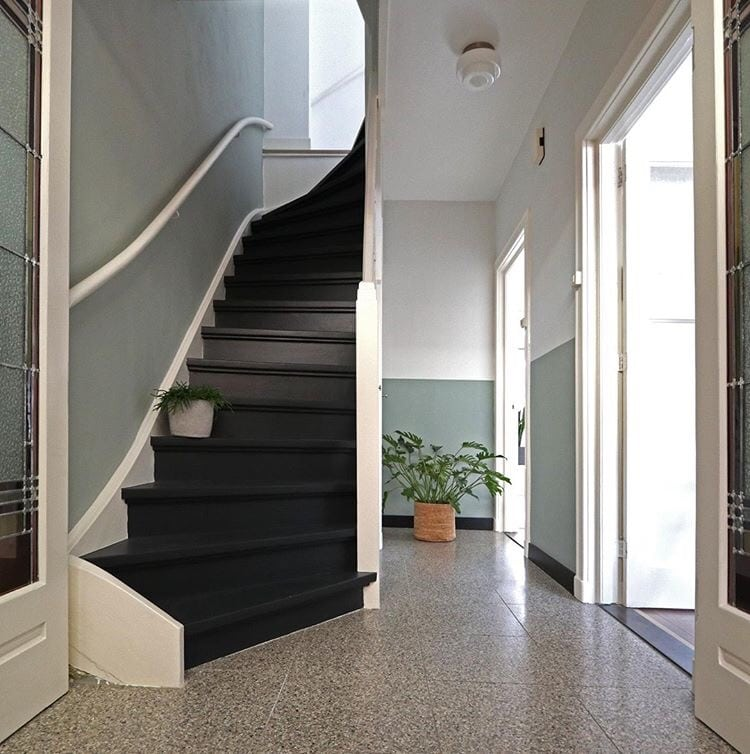 zwarte trap @haarlemshuisje