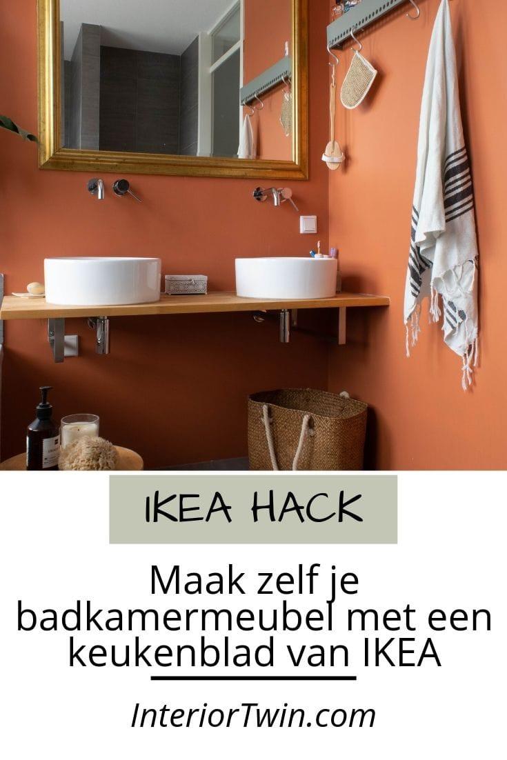 ikea hack keukenblad wordt badkamermeubel