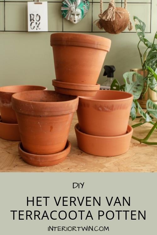 diy: het verven van terracotta potten