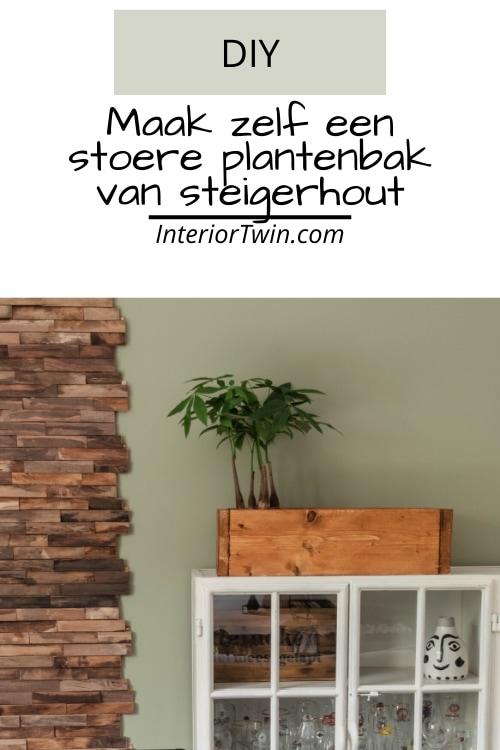 maak zelf een stoere plantenbak van steigerhout