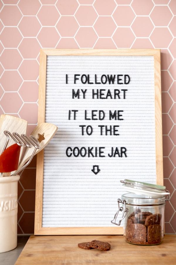 teksten quotes letterbord lightbox keuken