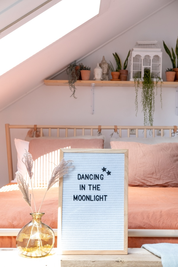 teksten quotes letterbord lightbox slaapkamer bed_