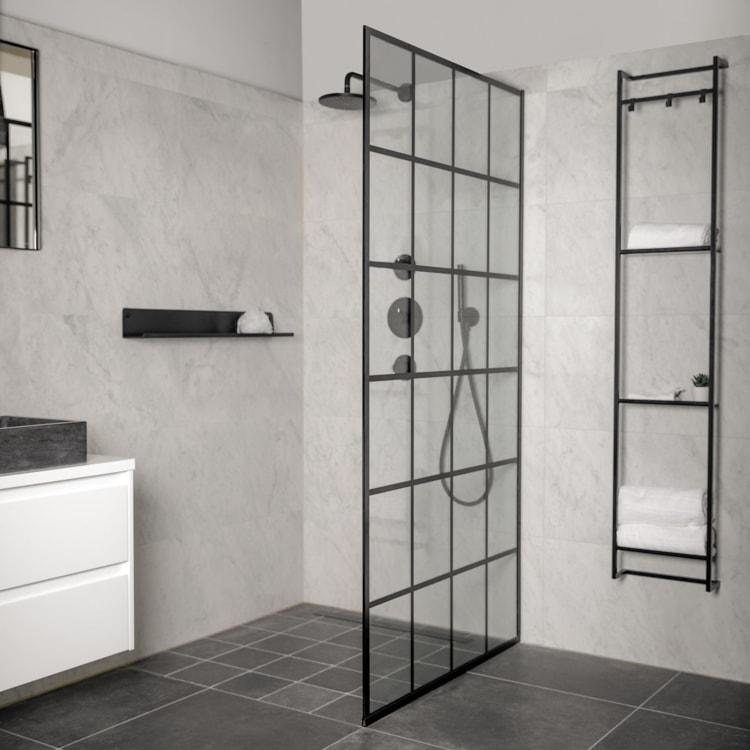 zwarte accessoires badkamer