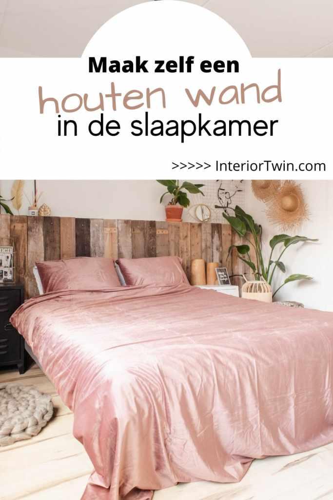 maak zelf houten wand in de slaapkamer