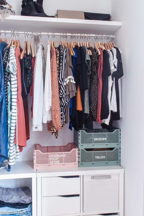 hema letterkratjes kledingkast organizer opruimen