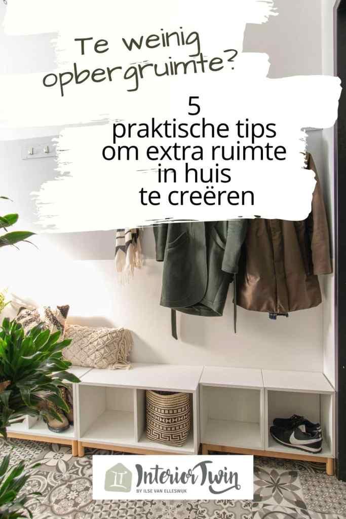 weinig opbergruimte tips extra ruimte