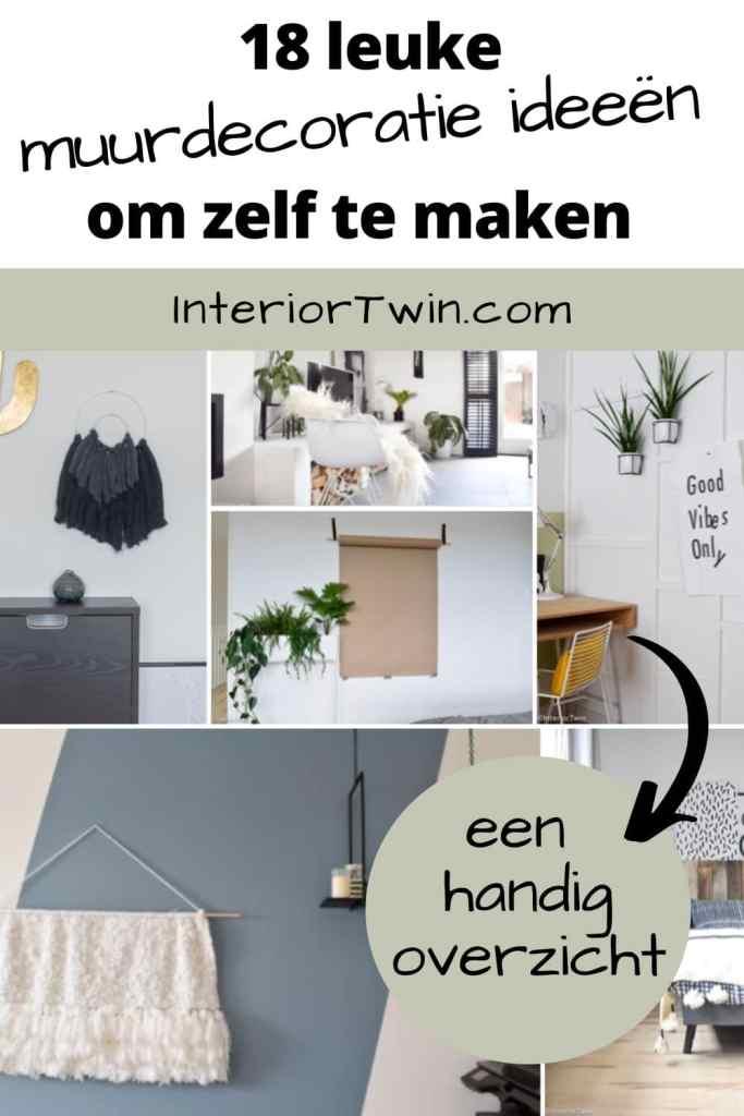 18 leuke muurdecoratie ideeën om zelf te maken