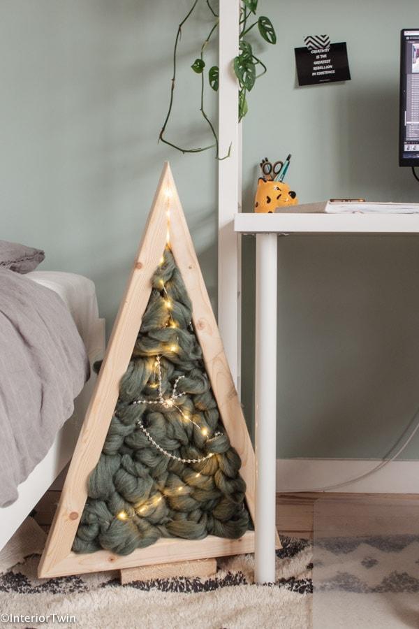 kerstboom lontwol diy