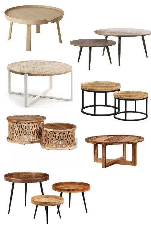 houten ronde salontafels