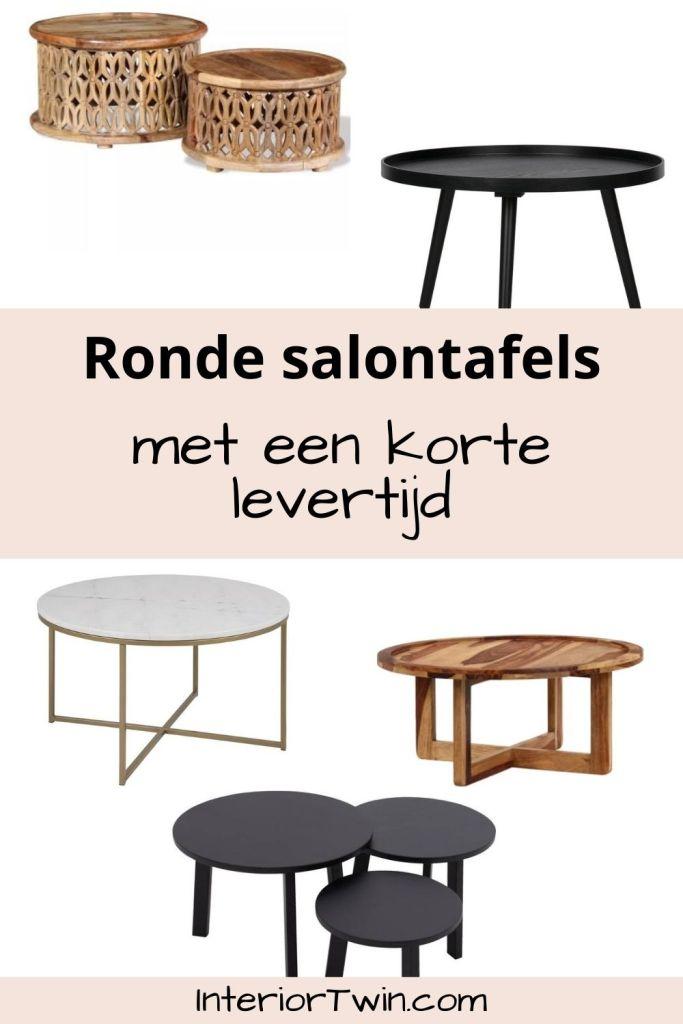 ronde salontafels met korte levertijd