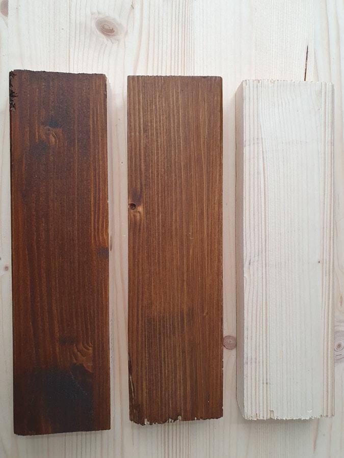 plank beitsen kleur noten