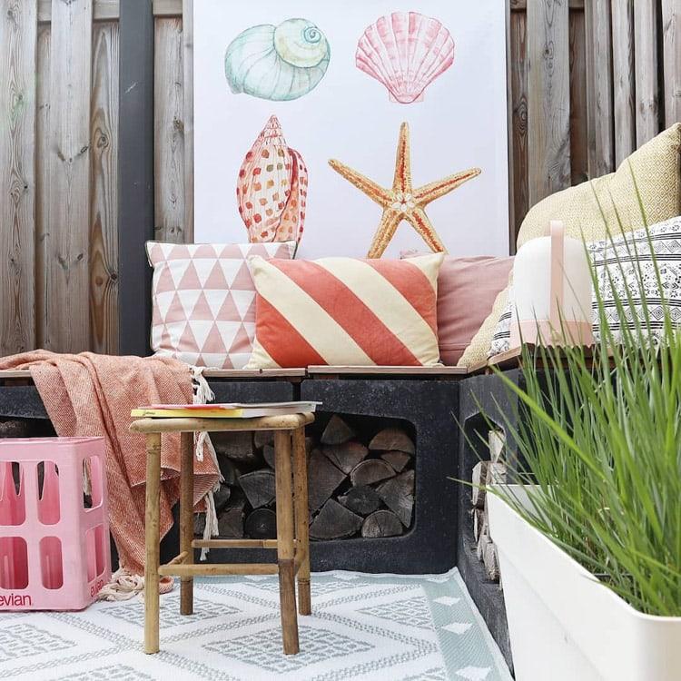kleurrijke zitplek tuin @mijnhuisje_