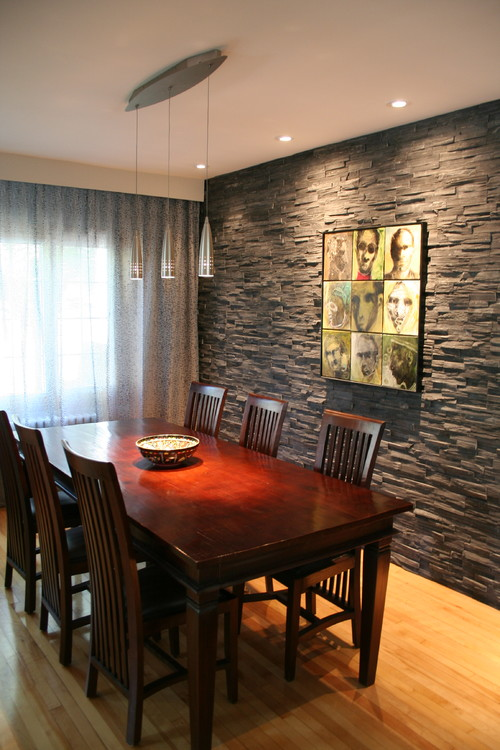 Exquisite Dining Rooms With Stone Walls Interior Vogue