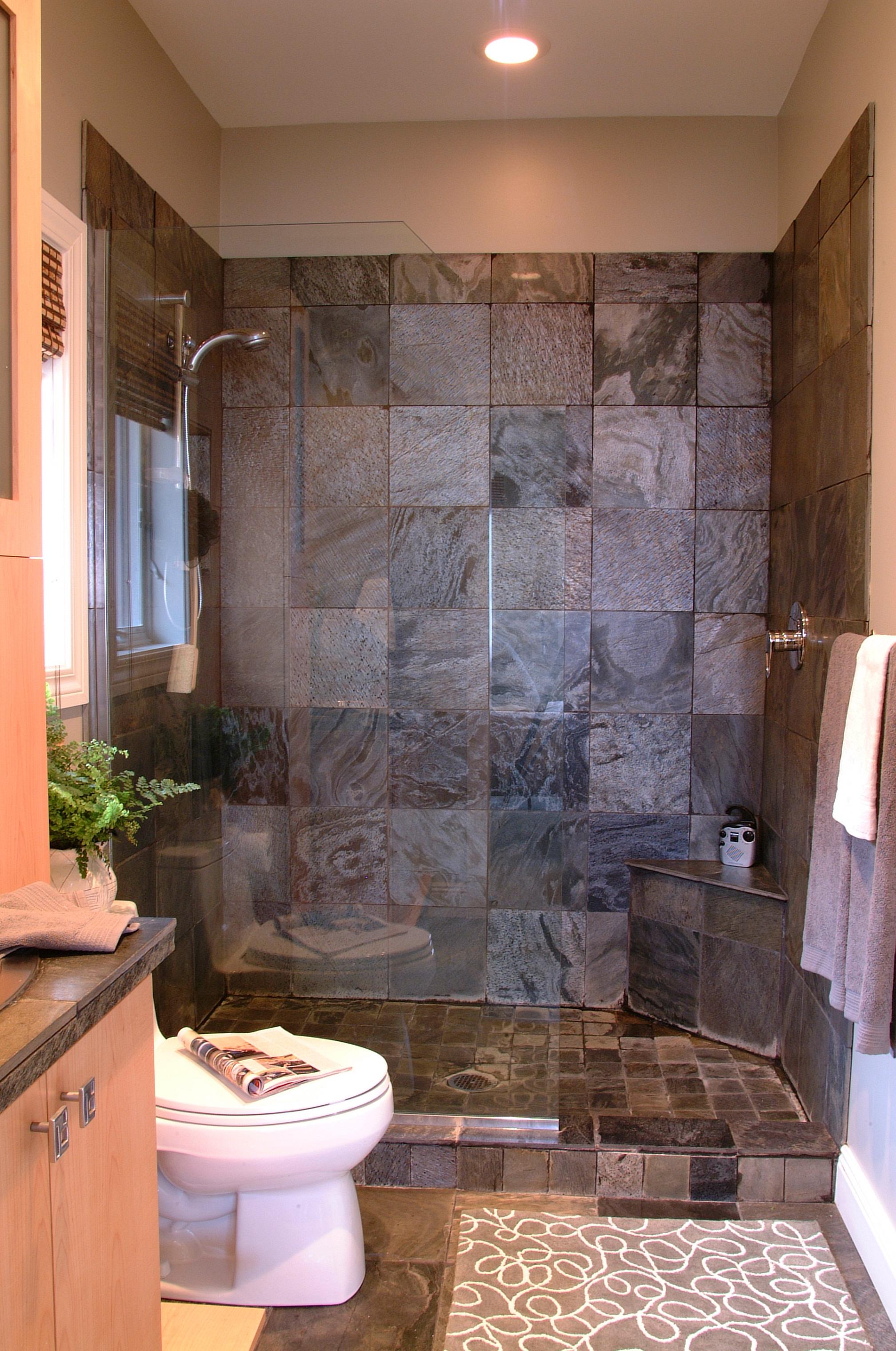 Modern Bathroom Design Ideas with Walk In Shower ... on Bathroom Tile Designs  id=42665