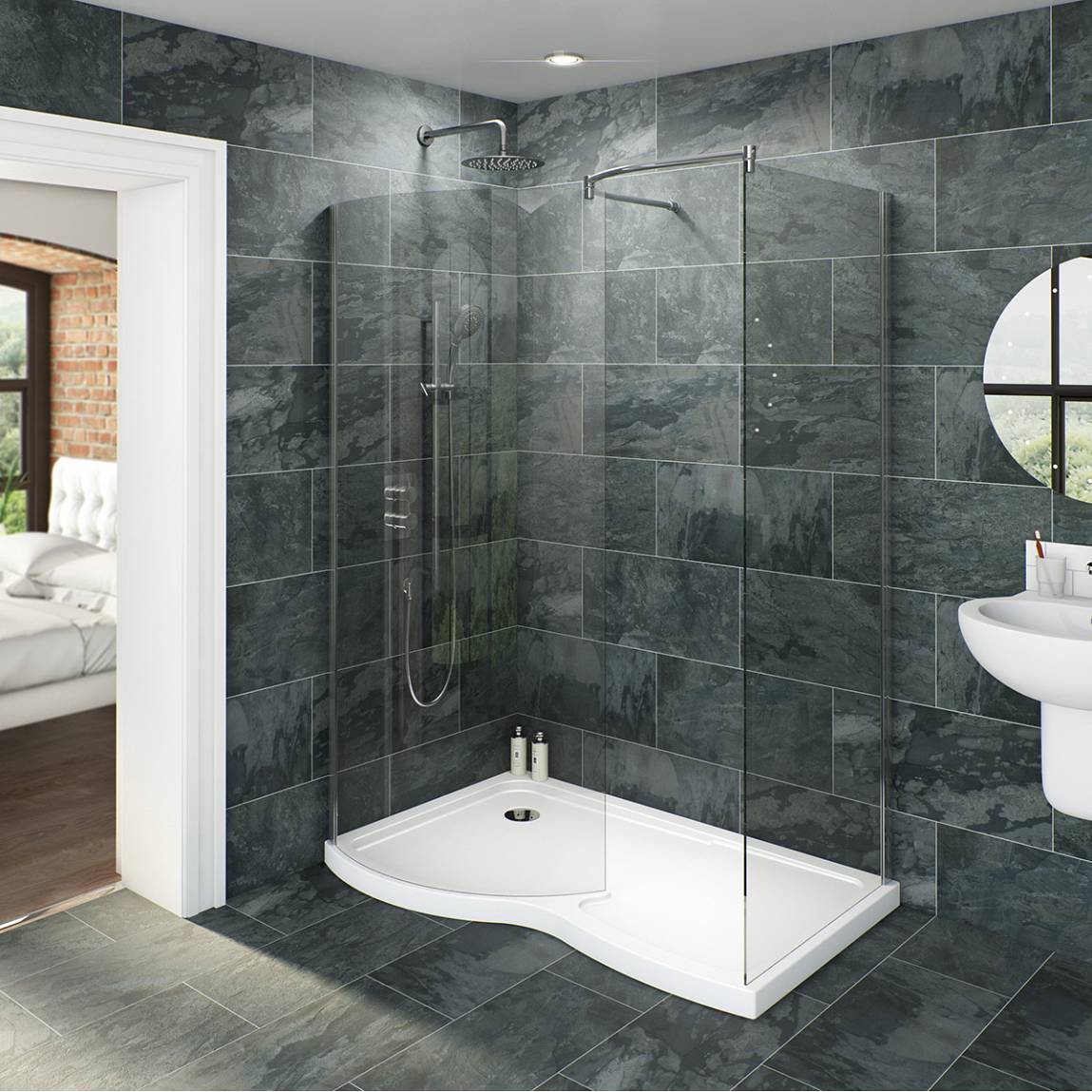 Marvelous Bathroom With Walk In Showers Interior Vogue