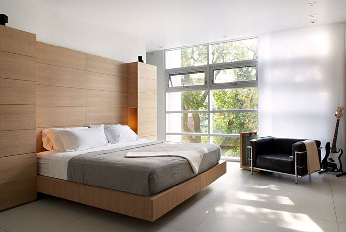 Clean, Modern Aesthetic modern furnished bedroom