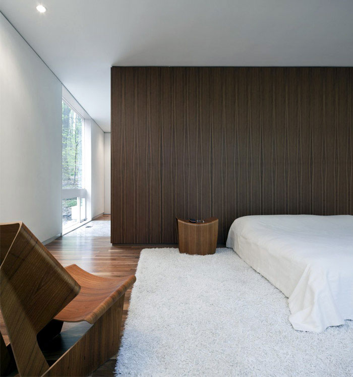 Living Space Visually Connected to the Woodland Site bedroom area