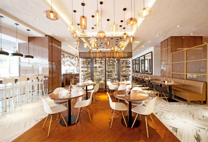 Bright And Spacious Restaurant By Designphase DBA InteriorZine